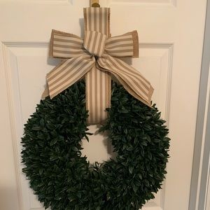Other - Wreath with succulent arrangement and bow.